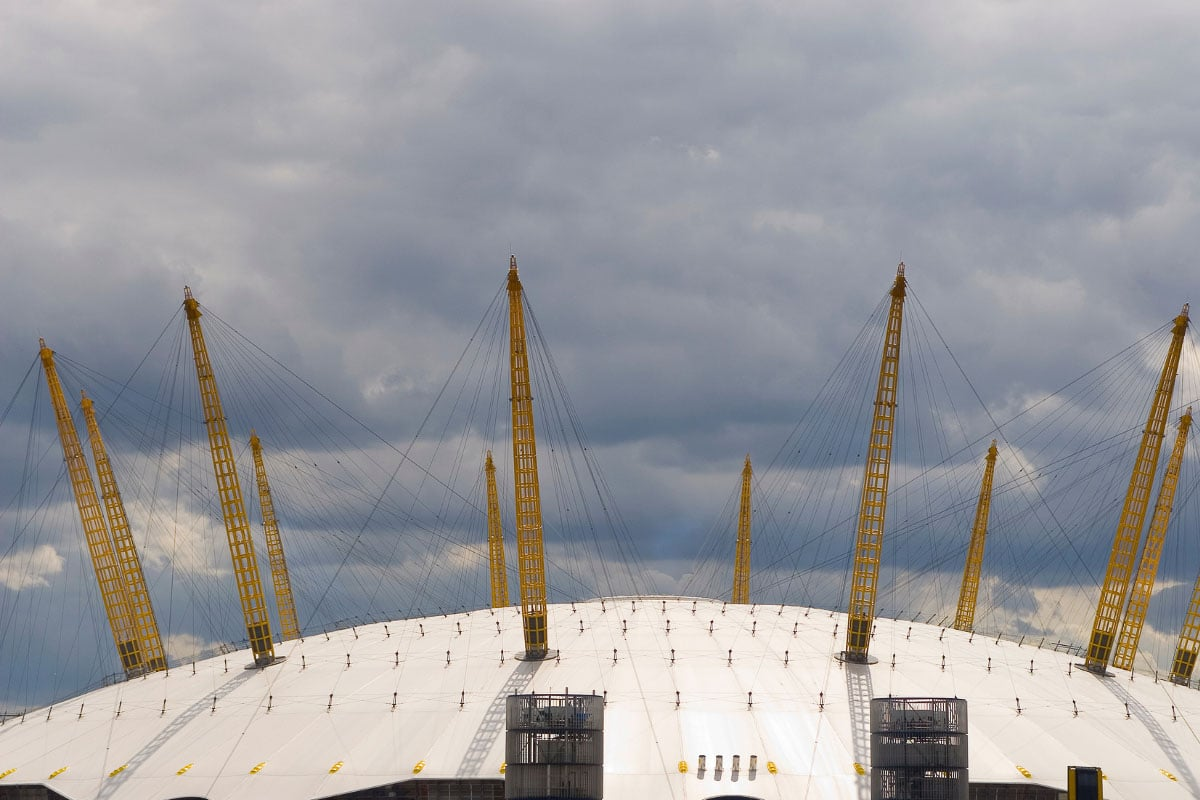 Top of the o2 Centre London