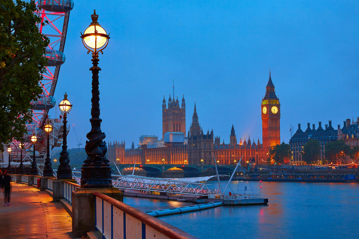 Westminster at sunset London