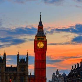 big ben london at sunrise