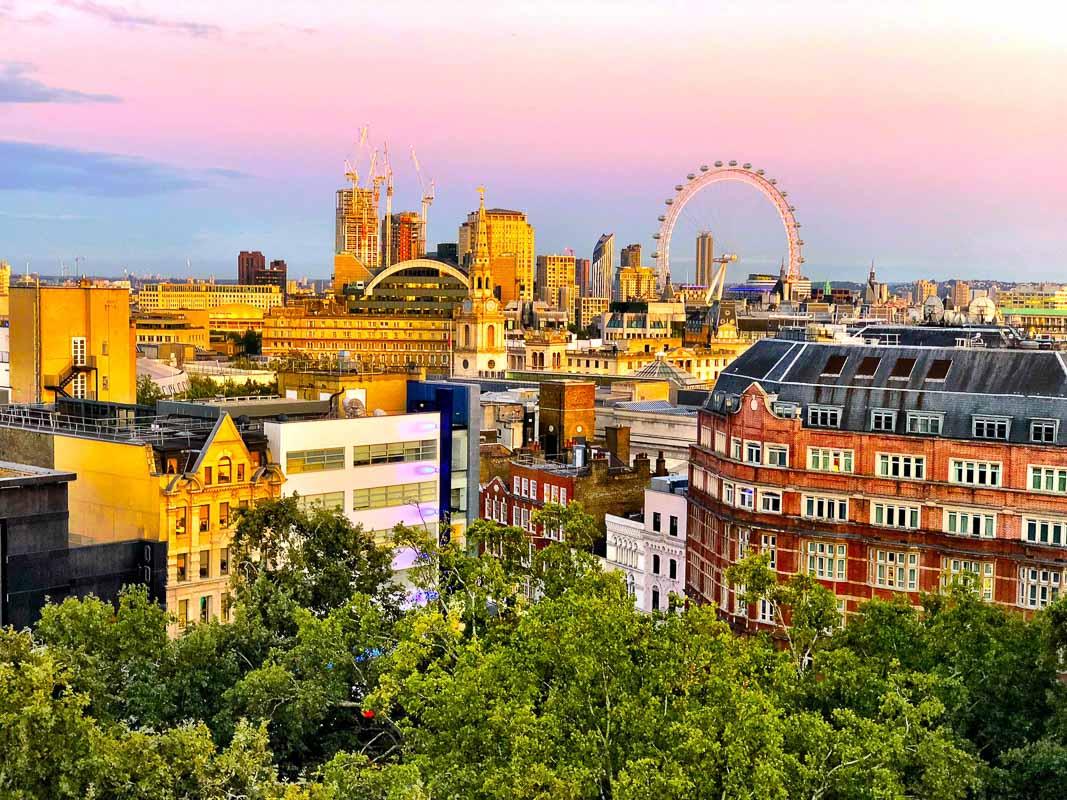 central london sunset