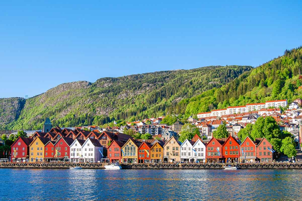 colourful houses in bergen norway