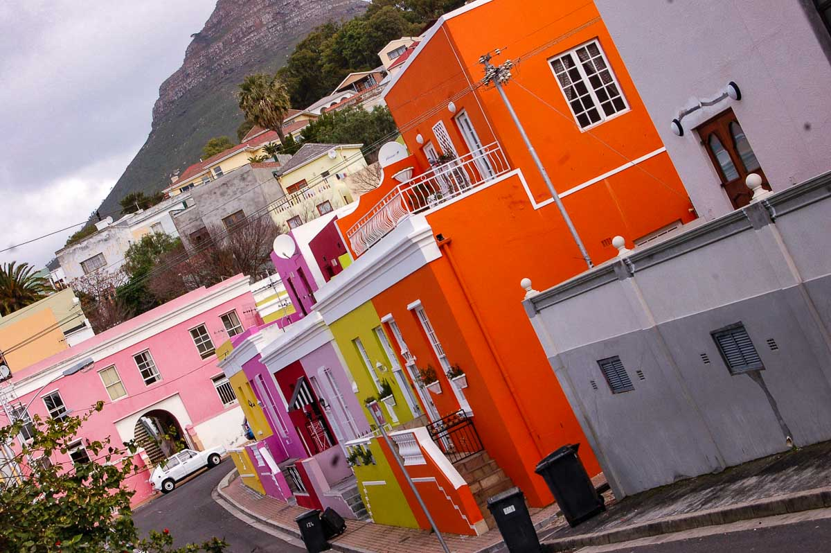 colourful houses in capetown south africa