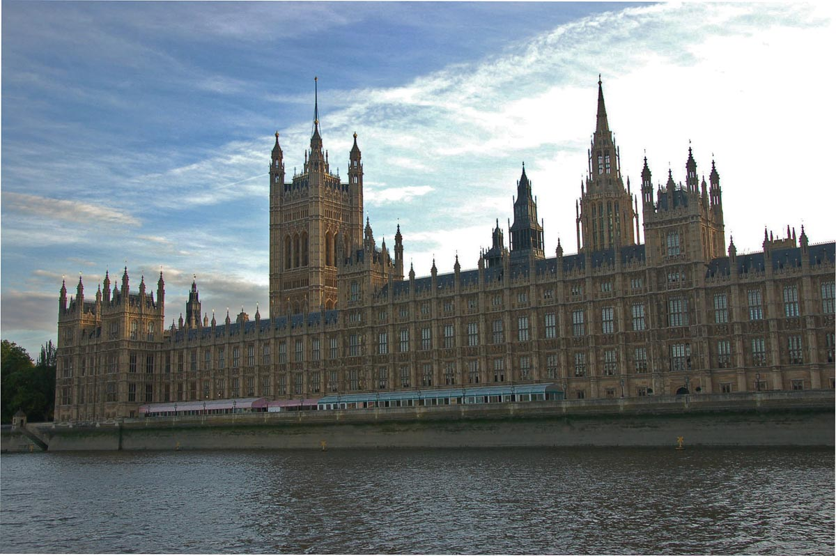 palace of westminster from the water