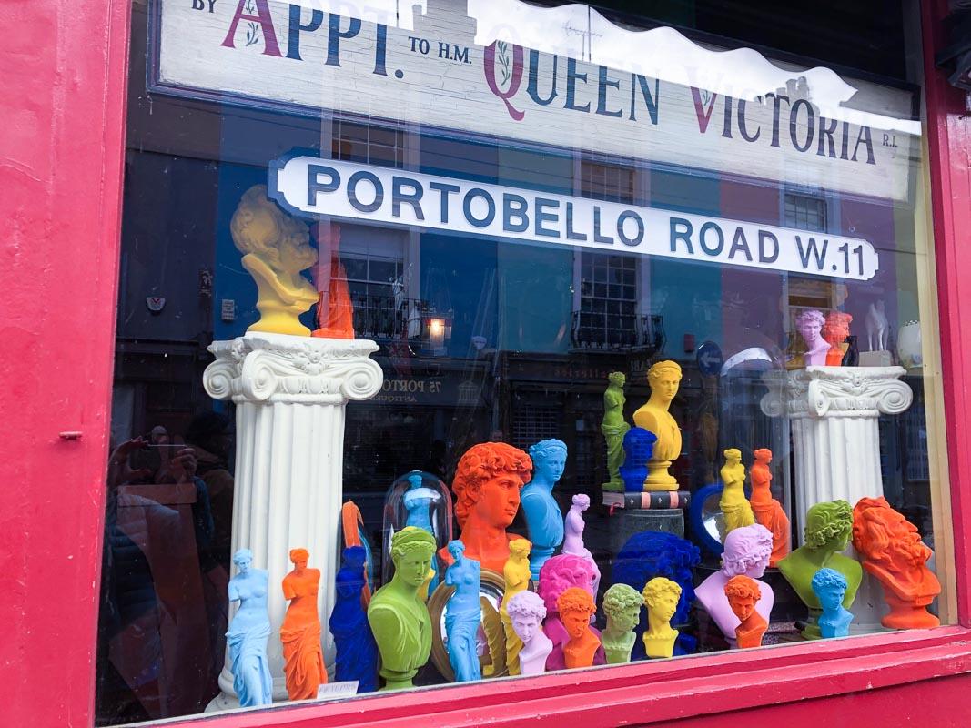portobello road shop front notting hill london