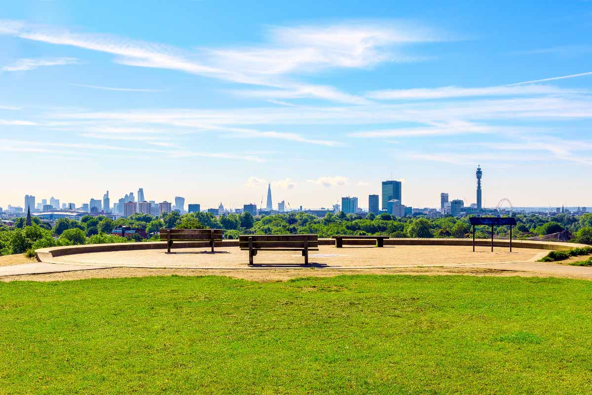 primrose hill view over london