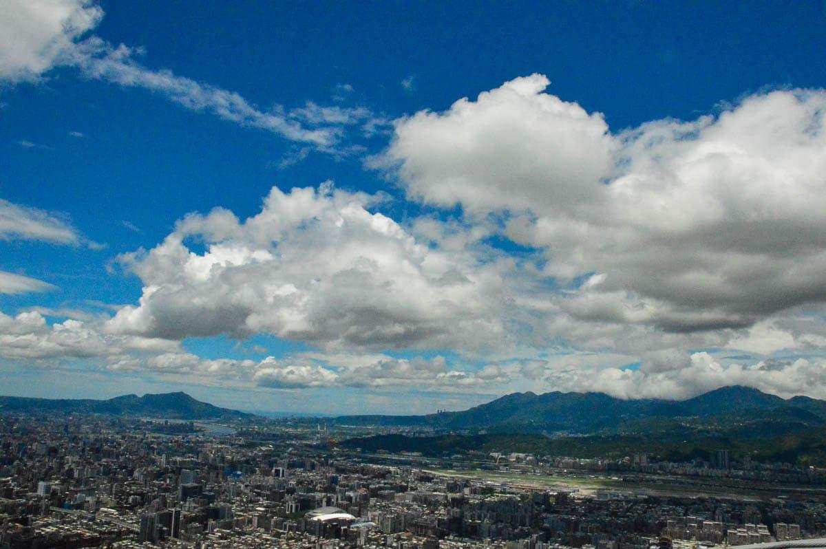 view over taipei from 101 Taipei Taiwan