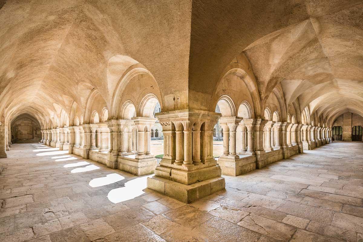 Abbey de Fontayne landmarks in france