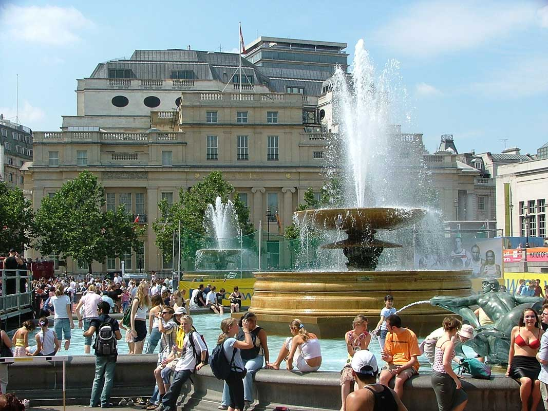 Fountain in Trafalgar Square london