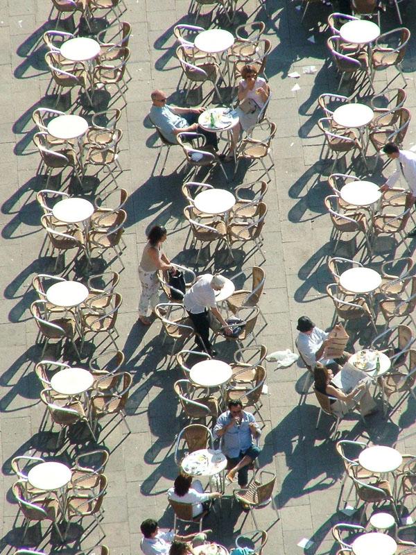 Tabletops in st mark's square