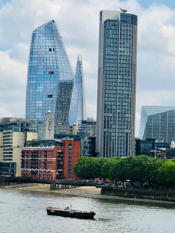 The shard and london southbank skyline