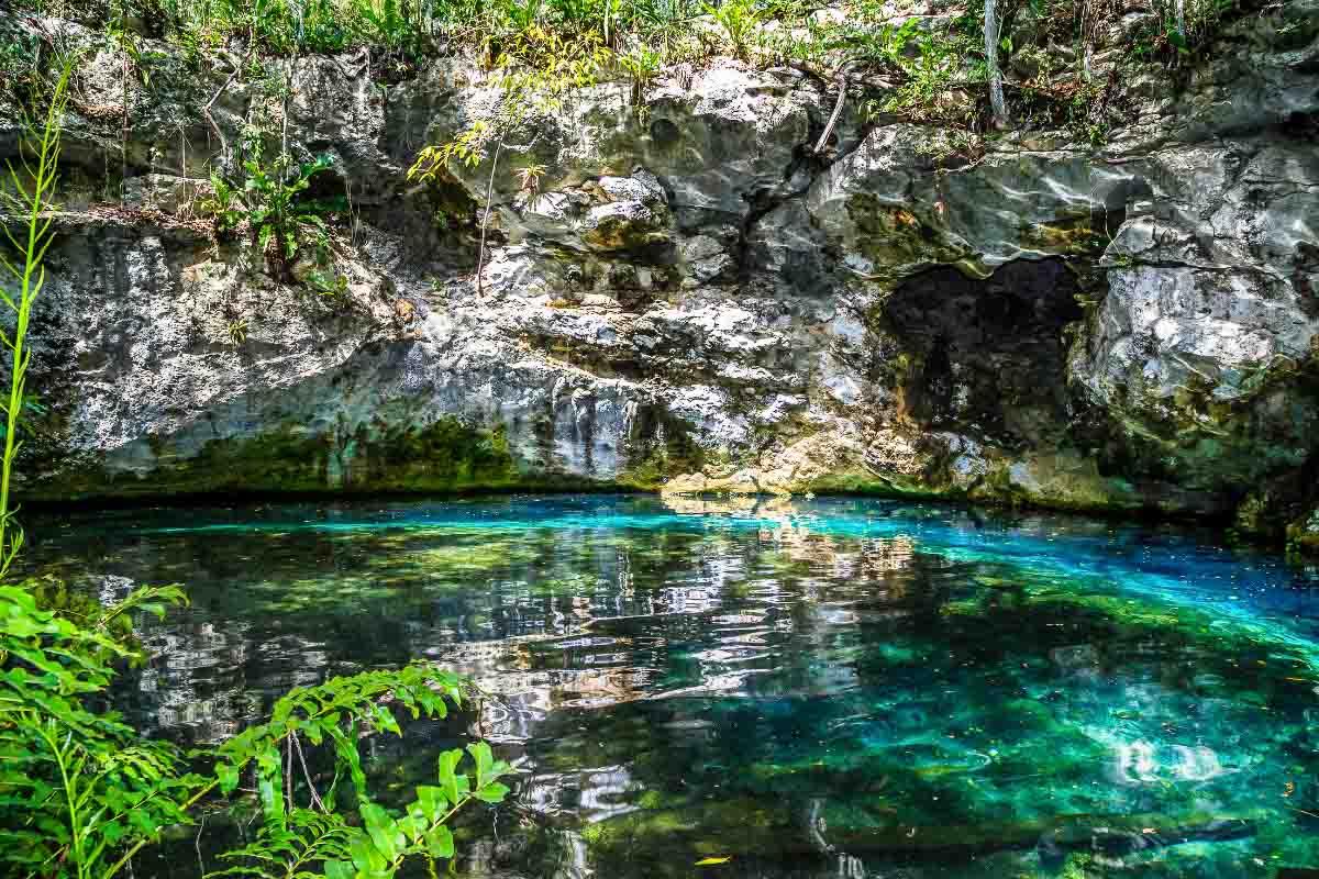 Tulum underground cenote