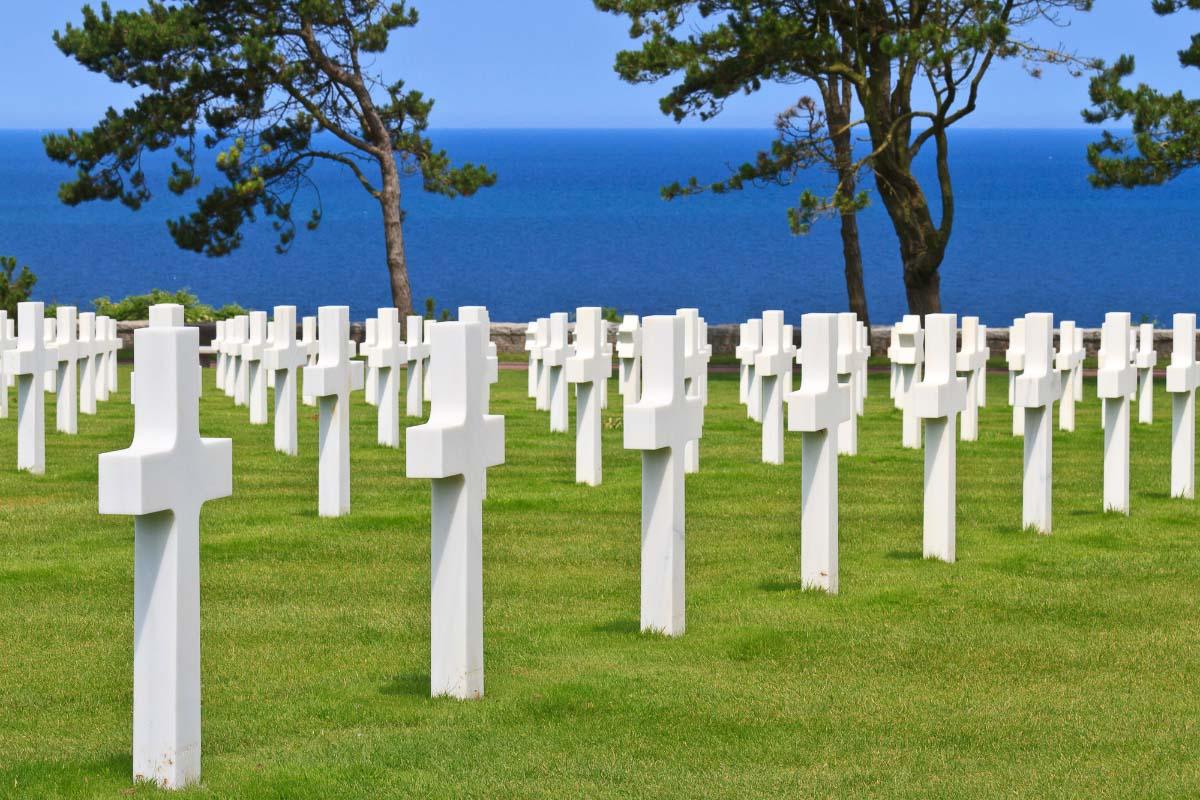 cemetery near omaha beach normandy france