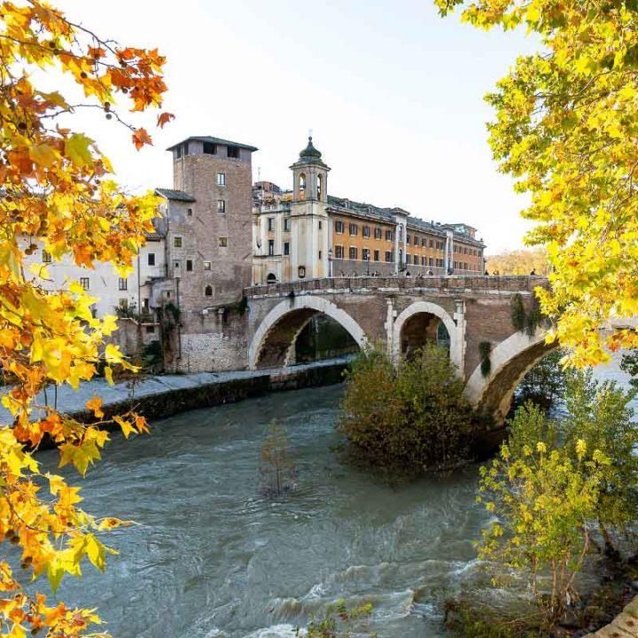 cestio bridge rome italy