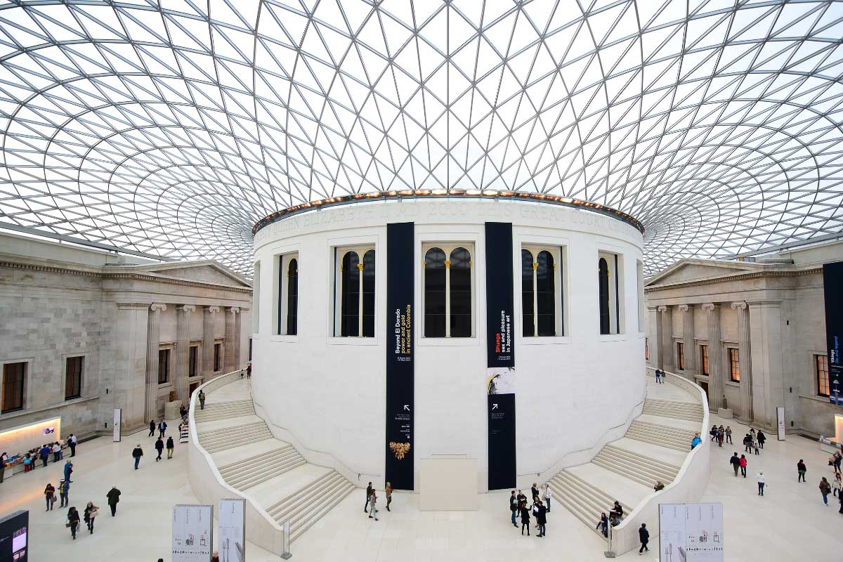courtyard in the british museum london
