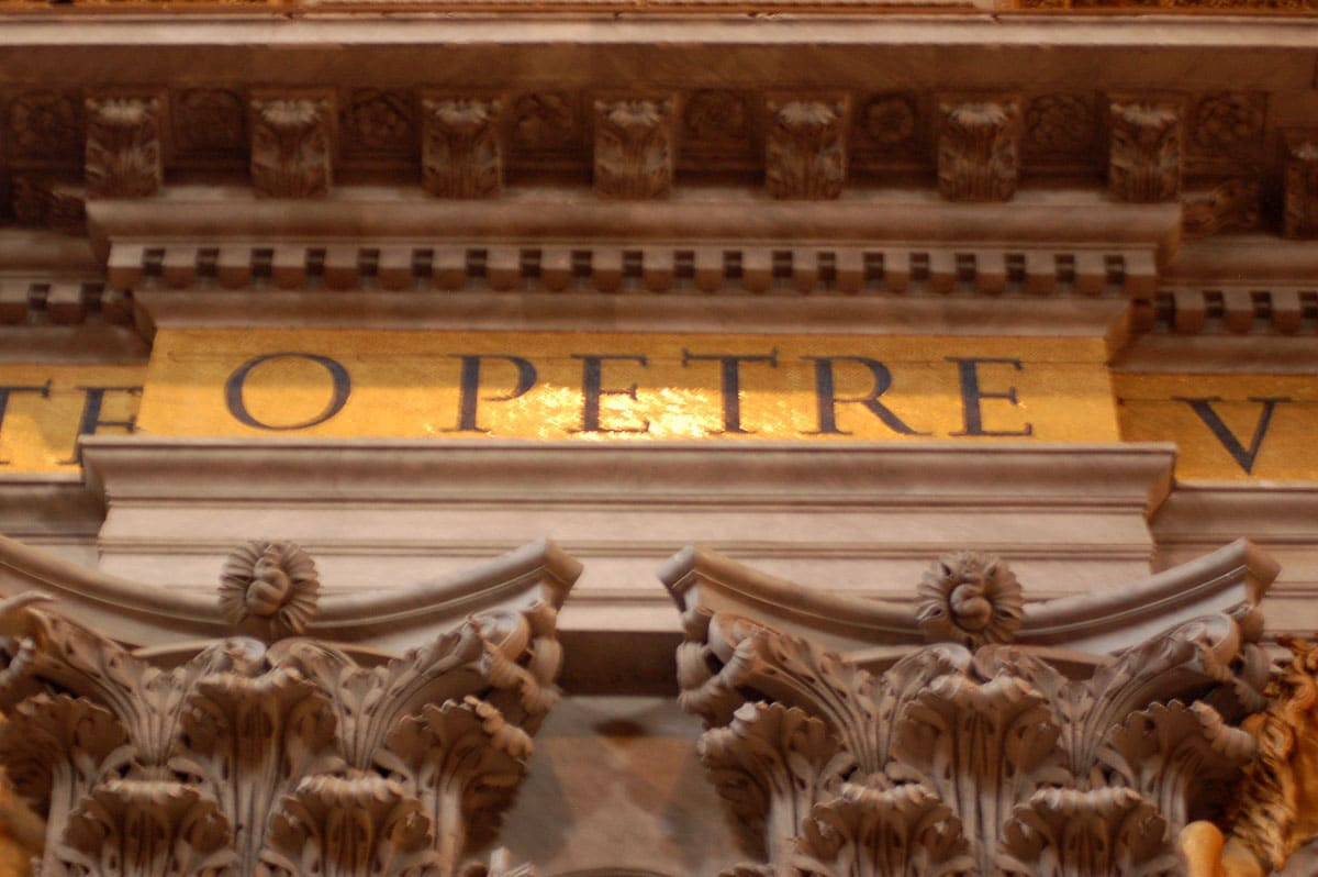 detail at st peters