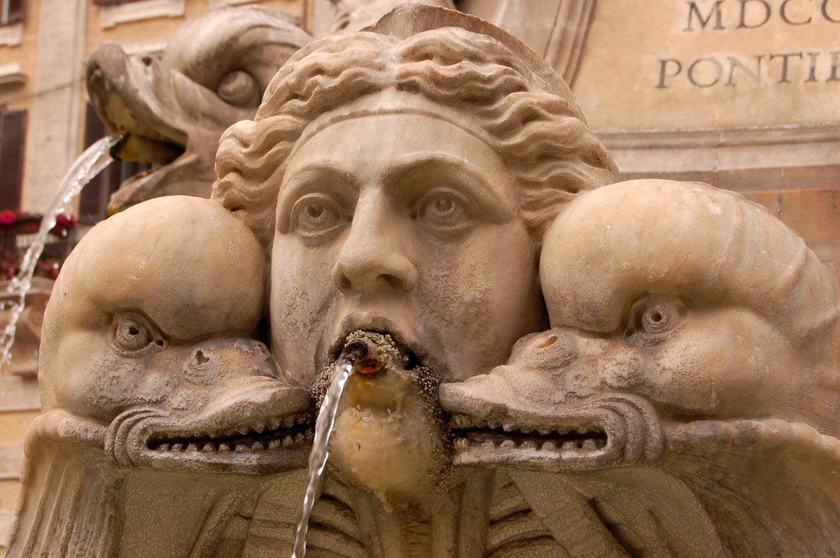 fountain detail up close