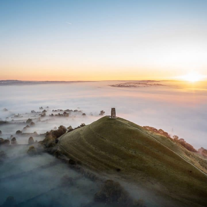 glastonbury tor england landmark