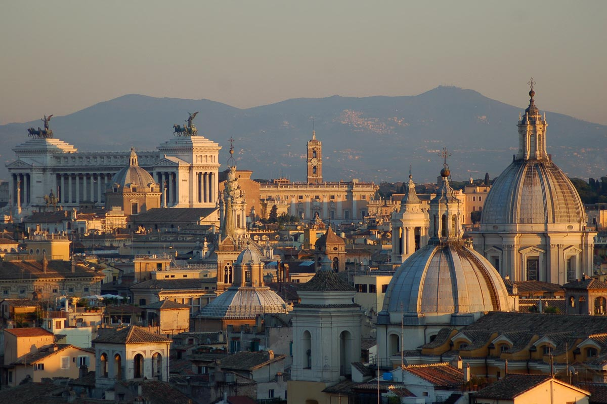 rome at sunset