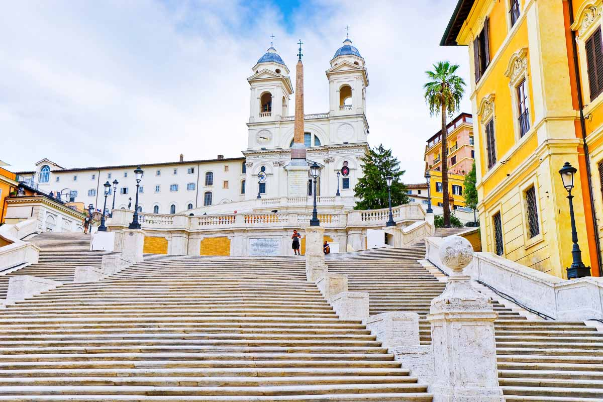 spanish steps during the day