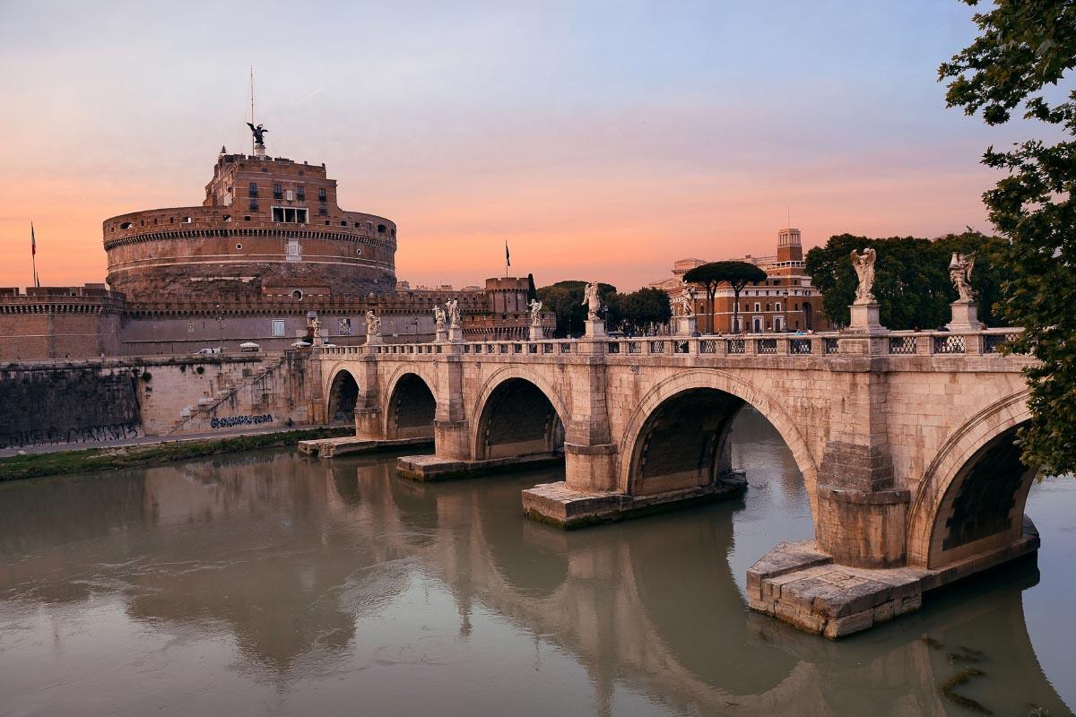 st angelo bridge rome italy