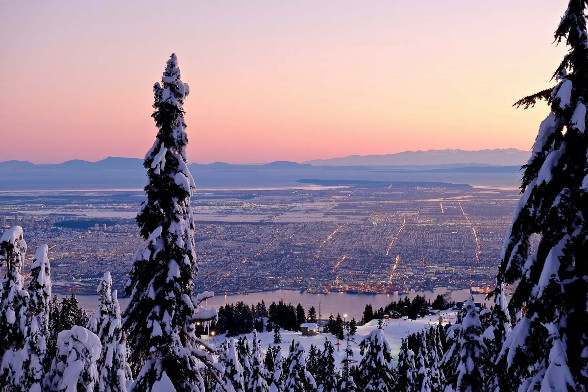 view from grouse mountain vancouver canada