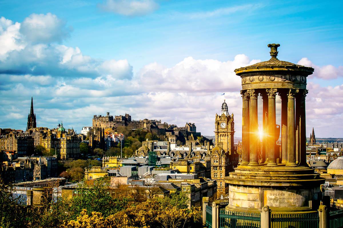 Edinburgh sunset from Calton Hill