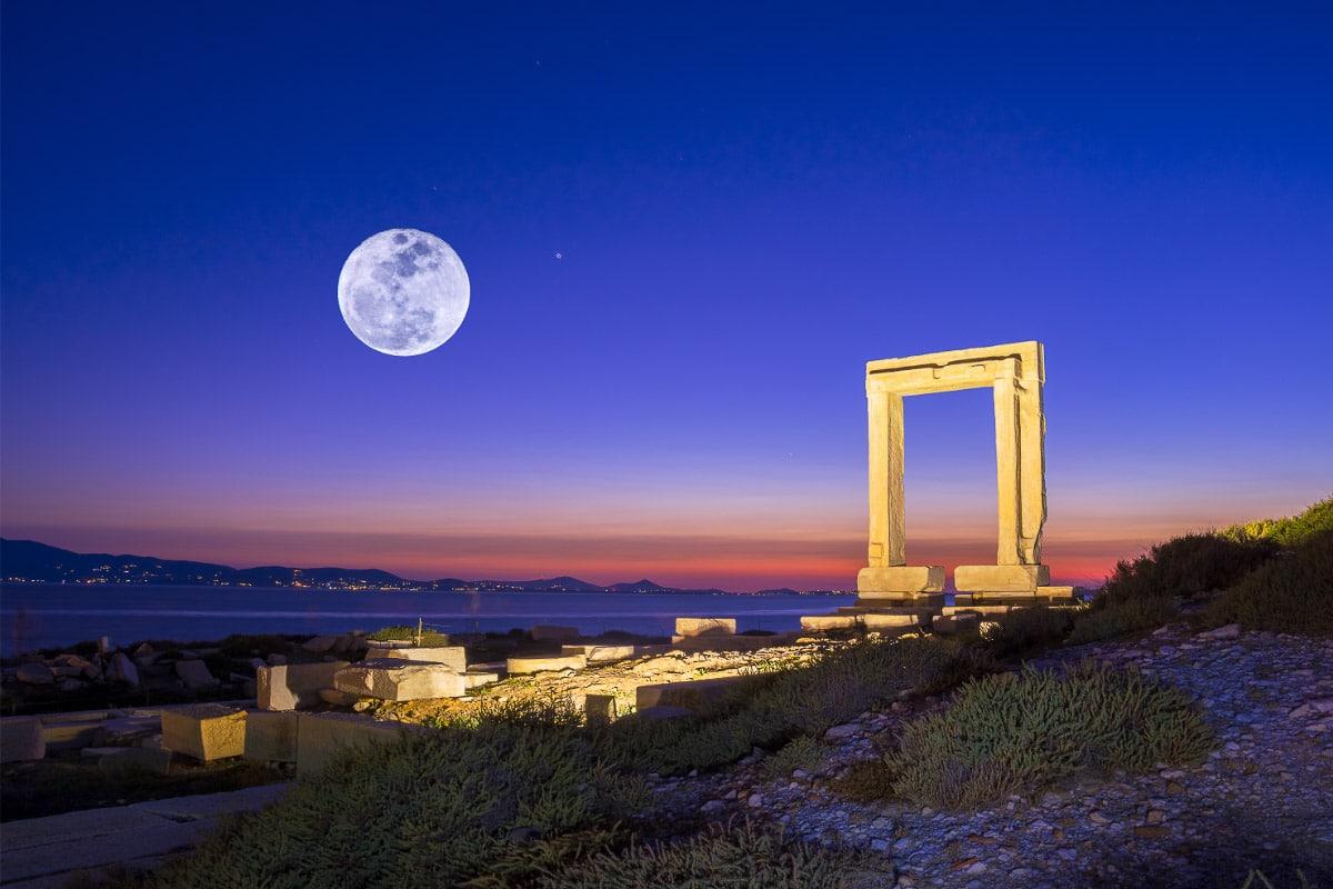 Naxos Greece moon