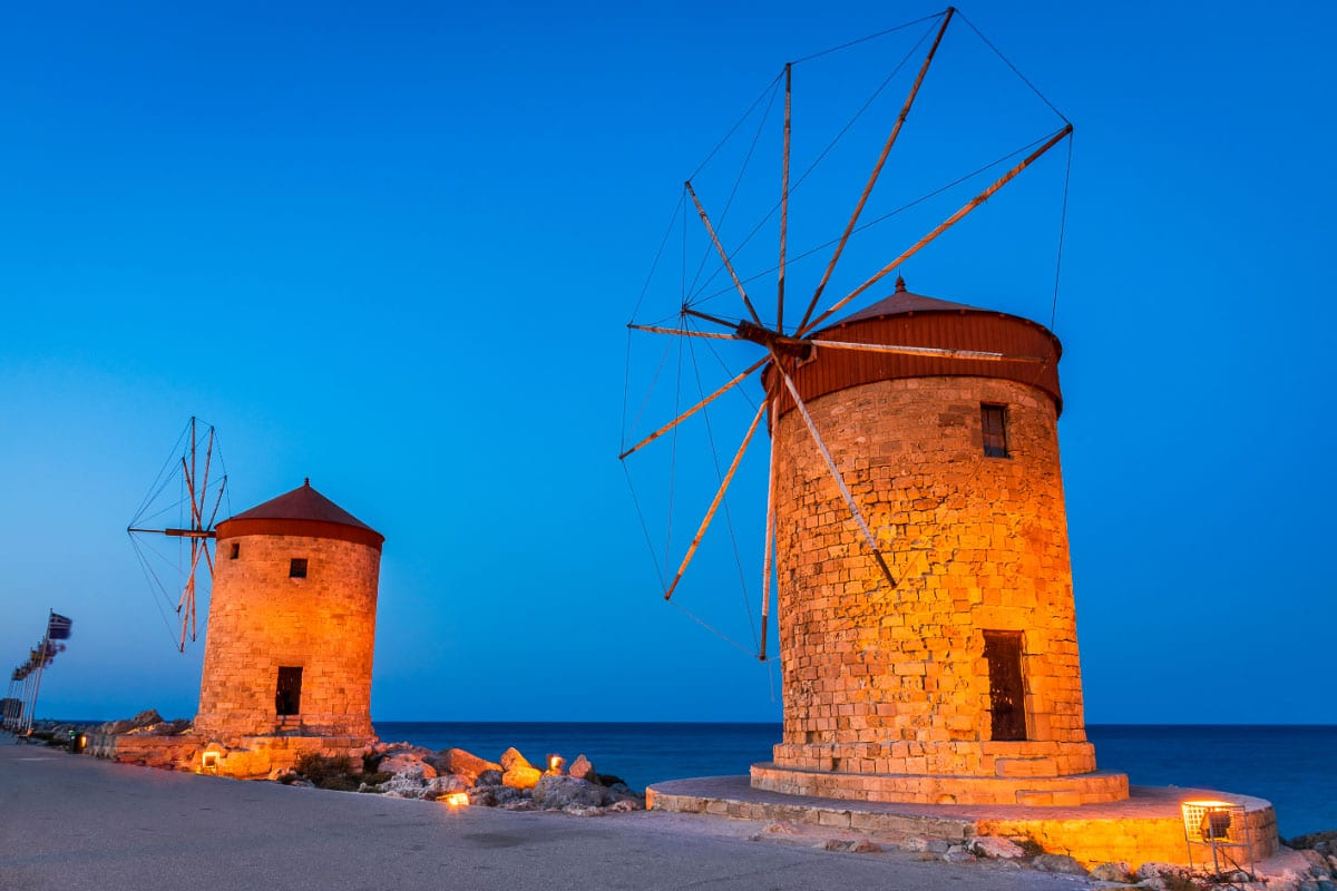 Rhodes windmills Greece