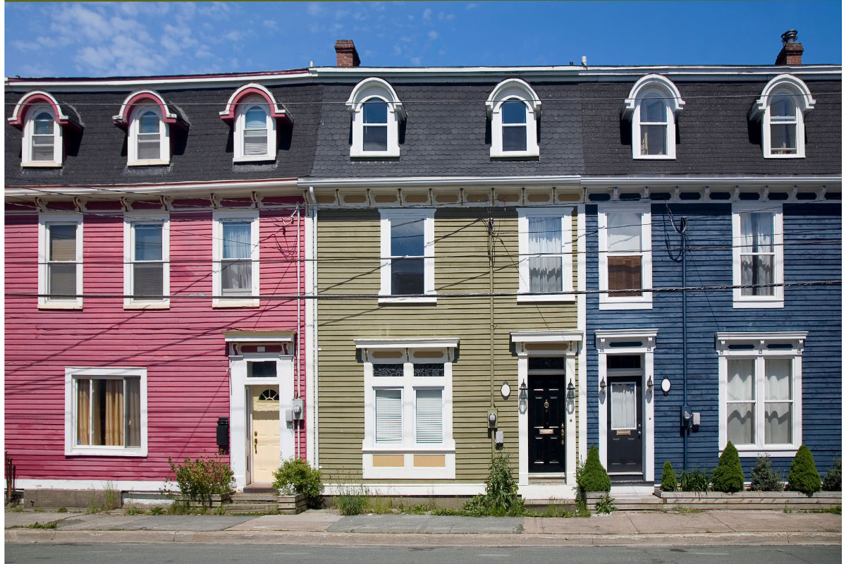colourful houses of st johns newfoundland