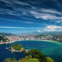 san sebastian aerial view most beautiful cities spain
