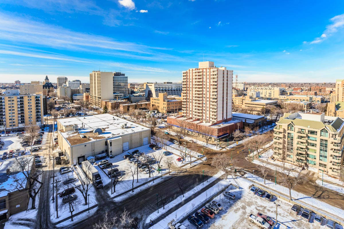 saskatoon downtown in winter