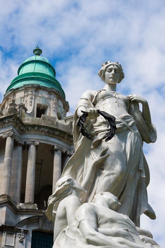 statue in titanic quarter belfast