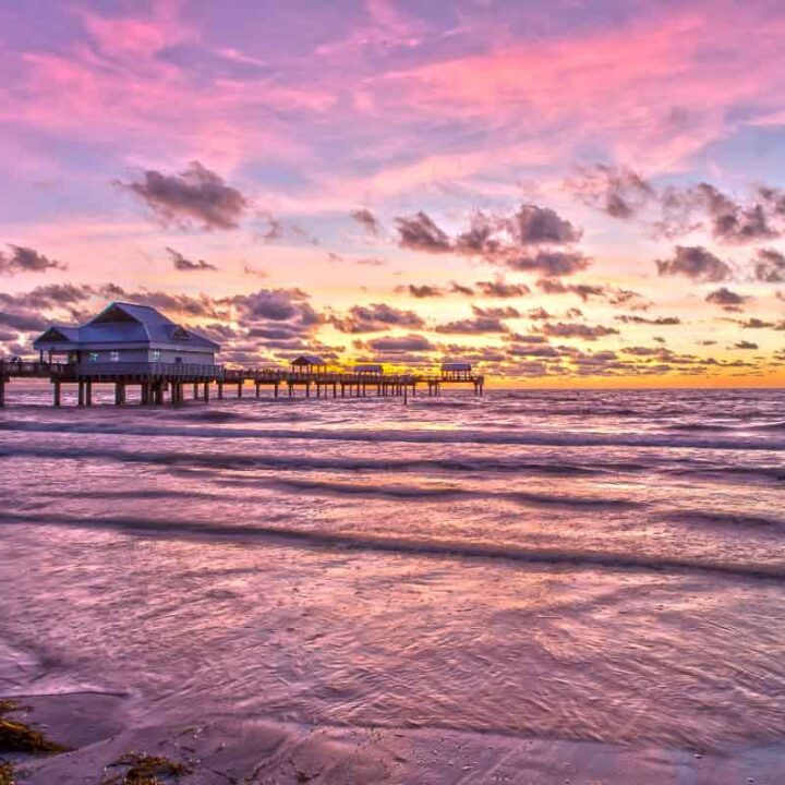 Clearwater Beach at sunrise