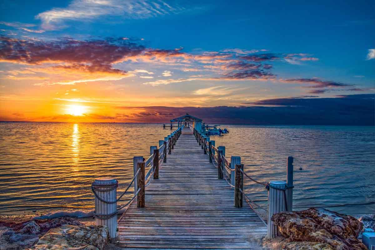 Islamorada Pier at Sunset