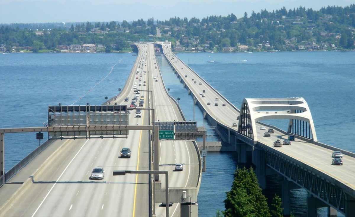 Lacey V Murrow Memorial Bridge and Homer M Hadley Memorial Bridge