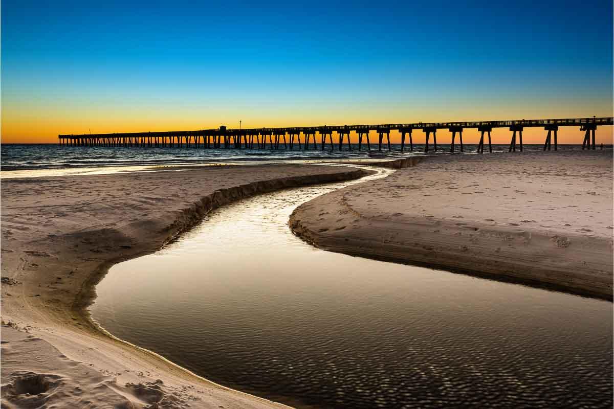 Panama City Beach sunsets in Florida
