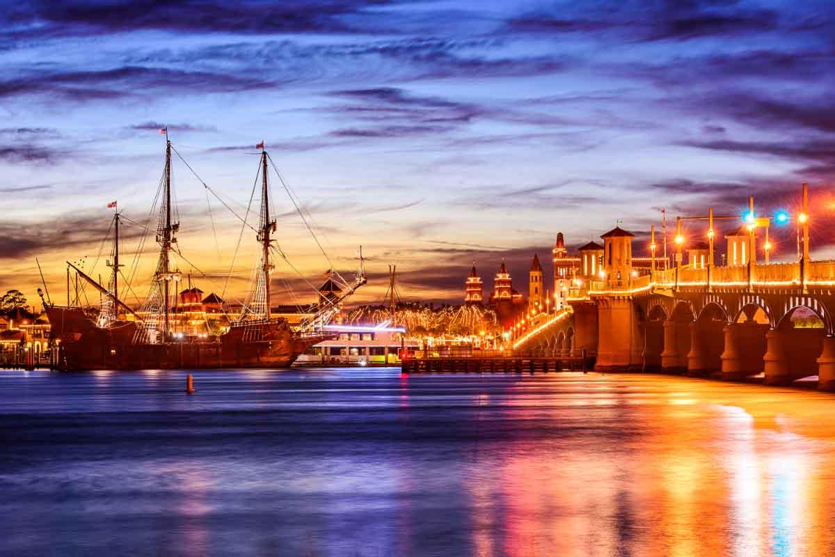 St Augustine Florida at Sunset