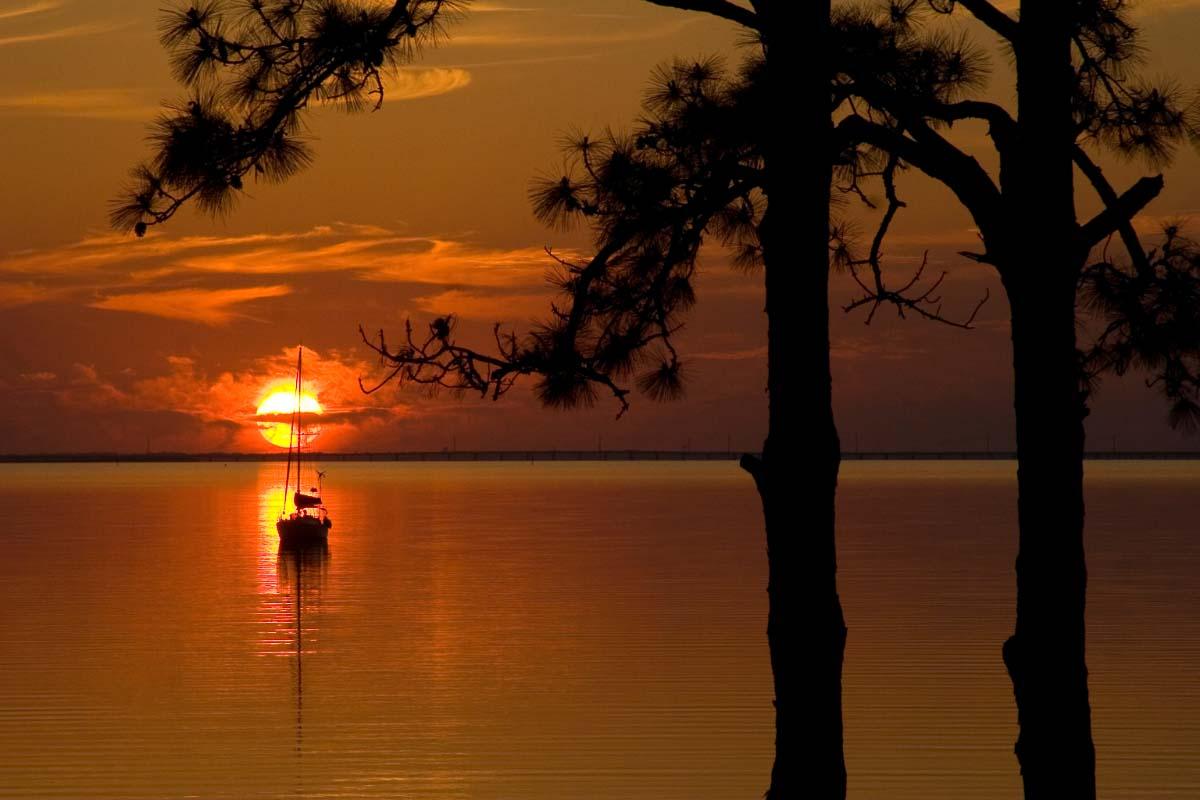 St George Island florida at sunset