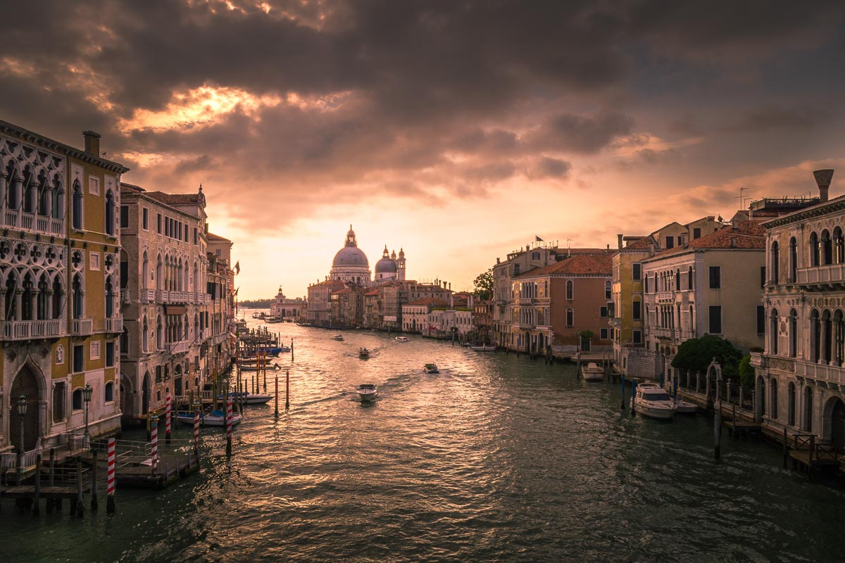 Sunset Canal Grand Venice