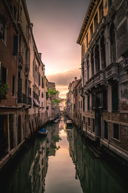 Sunset canal