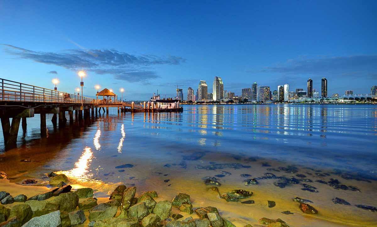 coronado ferry landing view