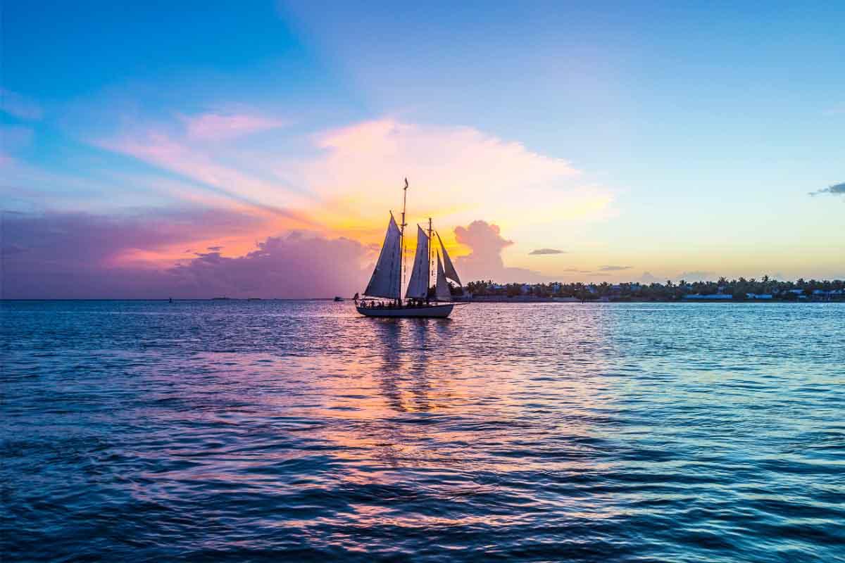 key west sunset boat