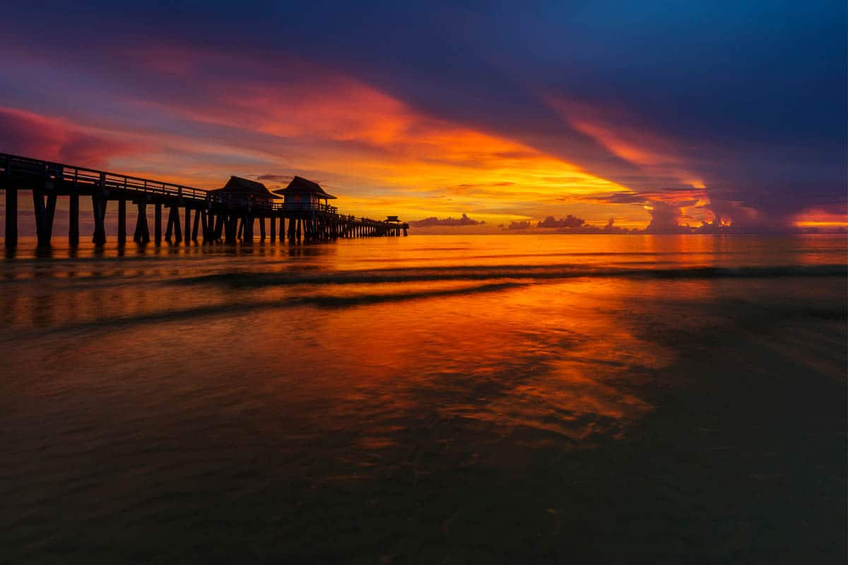 naples sunset in florida