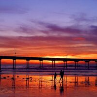 ocean beach Sunset_pier
