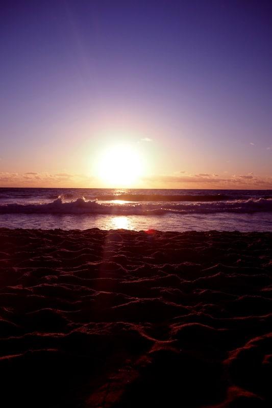 scarborough beach sunset perth