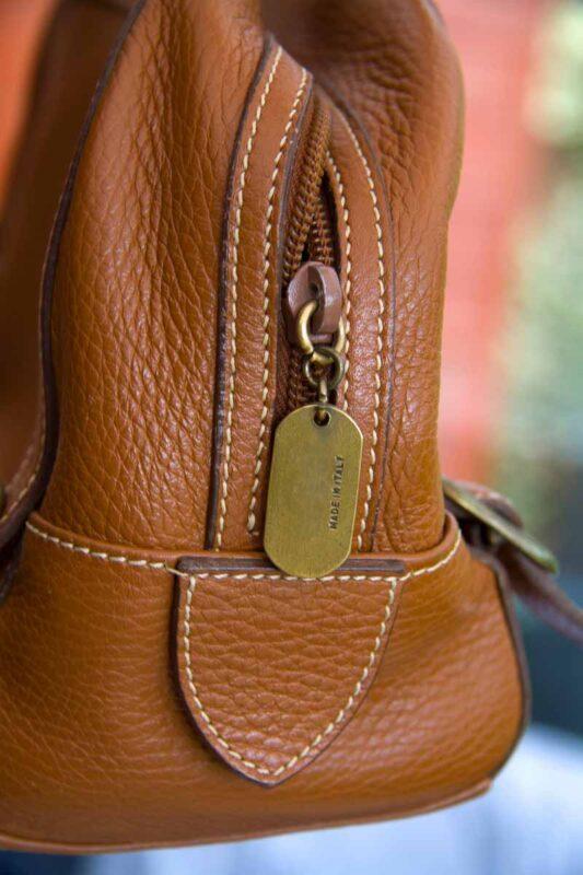 side of italian handbag