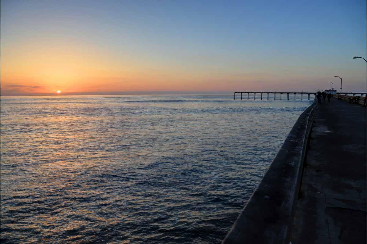 sunset from ocean beach san diego