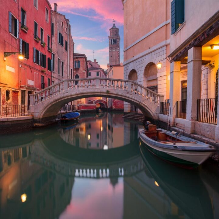 sunset view in venice