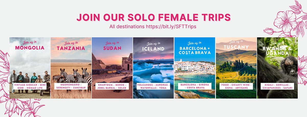images of solo female travel trips