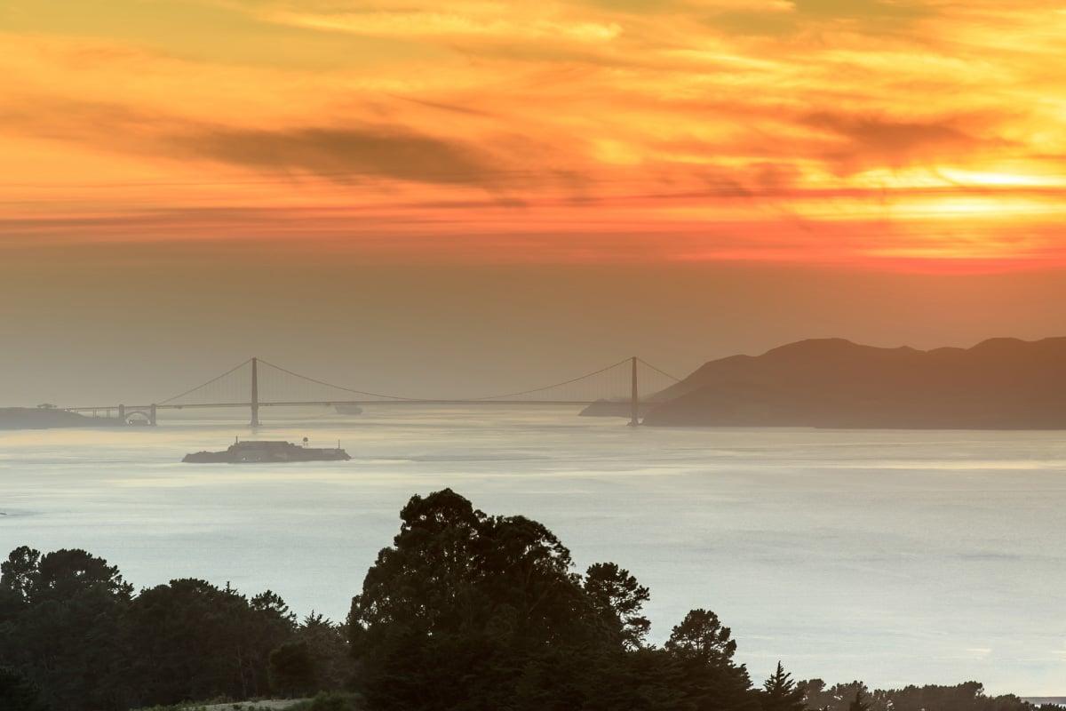 Baker Beach San Francisco sunset view